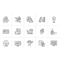 artificial intelligence symbol for web design and vector image