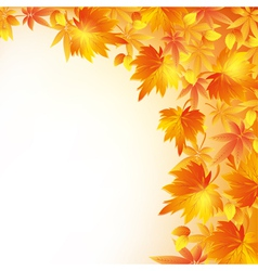 Autumn golden background with leaf fall vector image