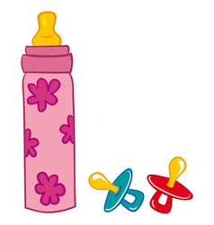 Baby Bottle and Pacifier vector image vector image