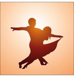 Ballroom dancers vector image