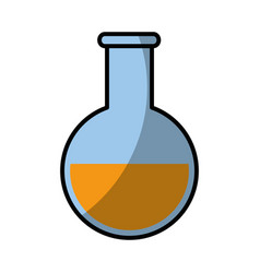 Beaker chemistry laboratory vector
