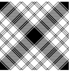 black and white check diagonal texture plaid vector image
