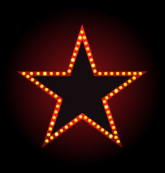 brightly theater star glowing retro cinema vector image