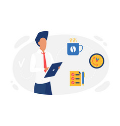 business people planning time management concept vector image