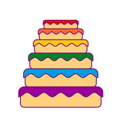 cake lgbt great pie color rainbow food gay vector image