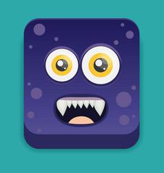 Cartoon monster in flat style vector