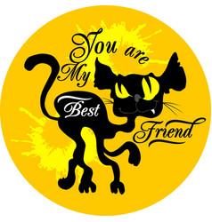cat my best friend vector image