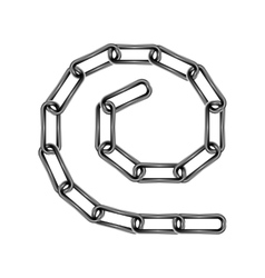 chain links in spiral vector image