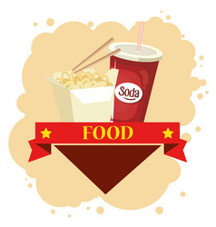chinesse food and soda vector image