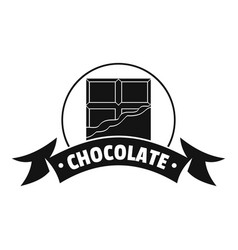 chocolate logo simple black style vector image