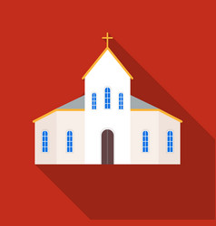 Church icon in flat style isolated on white vector