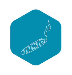 cigar burned icon outline style vector image