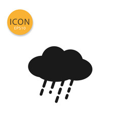 cloud with rain icon isolated flat style vector image