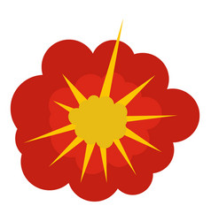 cloudy explosion icon isolated vector image
