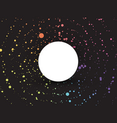color dotted background with blank circle vector image