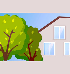 cottage house modern family vector image