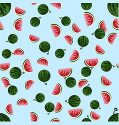 cute seamless pattern with watermelons vector image
