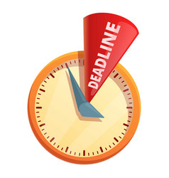 Deadline time icon cartoon style vector
