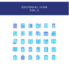 Editorial filled outline icon set vol2 vector