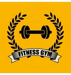 fitness gym design vector image
