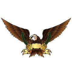 Fury spread winged eagle vector
