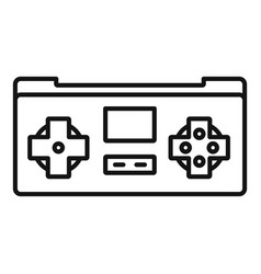 gaming controller icon outline style vector image