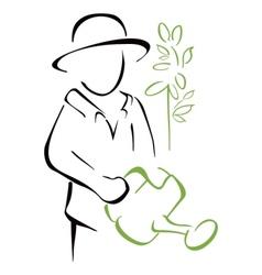 Garden caring vector image