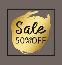gold brush stroke for sale background for print vector image