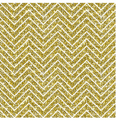 Gold glitter chevron pattern background vector