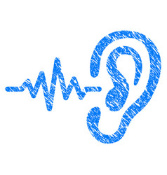 Hearing signal grunge icon vector