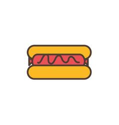 hot dog oktoberfest icon line filled vector image