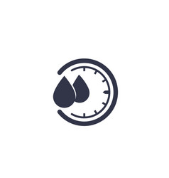 Humidity icon water level control sign vector