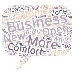 Is Your Business In The Comfort Zone text vector