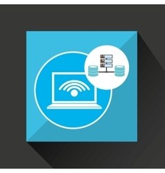 Laptop wifi language data base storage vector