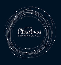 minimalist christmas flyercard template vector image