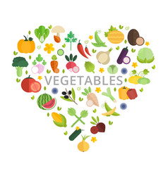 mix vegetables banner with place for text vector image
