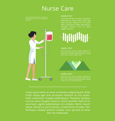 Nurse care visualization vector