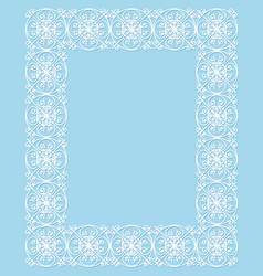 Openwork white frame vector