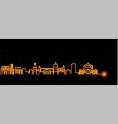 palermo light streak skyline profile vector image