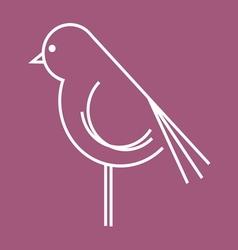 ptica koka petao simple2 vector image