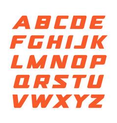 Race font geometrical cursive alphabet modern vector