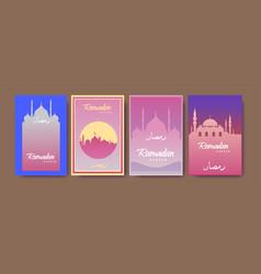 Ramadan greetings background elegant element vector