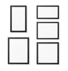 Realistic blank picture frame templates set vector