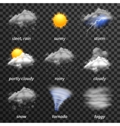 Realistic weather transparent vector image