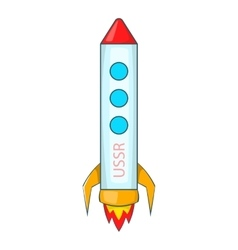 Rocket icon cartoon style vector
