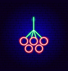 Rowanberry neon sign vector
