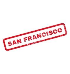 San Francisco Rubber Stamp vector image