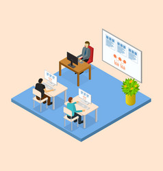 School education concept 3d isometric view vector