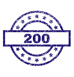 scratched textured 200 stamp seal vector image