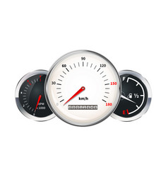 set of car dashboard elements speedometer vector image